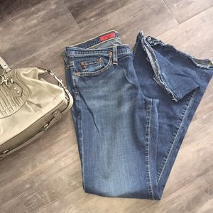 A.G. Super soft jeans with flare.  Sz. 31